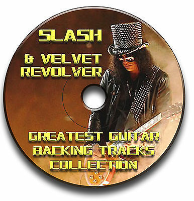 Slash & Velvet Revolver Style Mp3 Heavy Metal Rock Guitar Backing Jam Tracks Cd