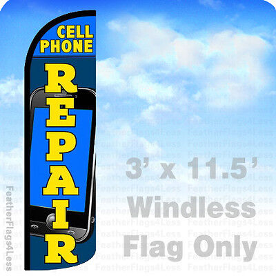 Flag Only 3' WINDLESS Swooper Feather Banner Sign - CELL PHONE REPAIR bq