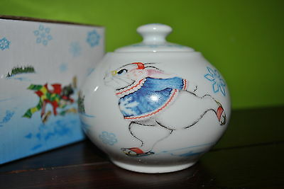 PAUL CARDEW Covered SUGAR BOWL Alice in Winterland Designed in England GIFT Box