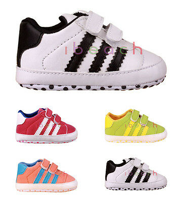 Infant Baby Boy Girl Sport Pram Shoes Toddler Trainers Size Newborn to 18 Months