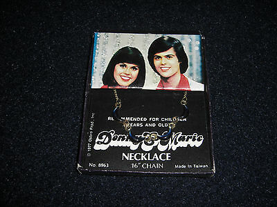 Vintage Original 1977 Donnie and Marie Necklace in the Original Box