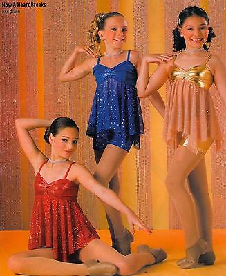 HOW A HEART BREAKS Christmas Tap Dress Contemporary Lyrical Dance Costume