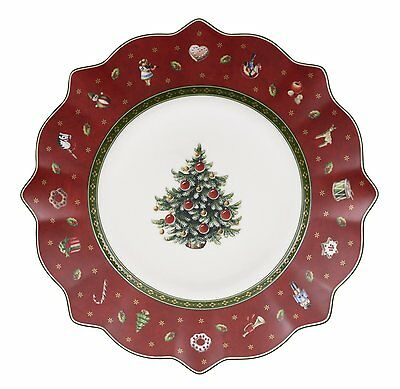 Villeroy & and Boch Christmas TOY'S DELIGHT red salad / dessert plate 24cm NEW