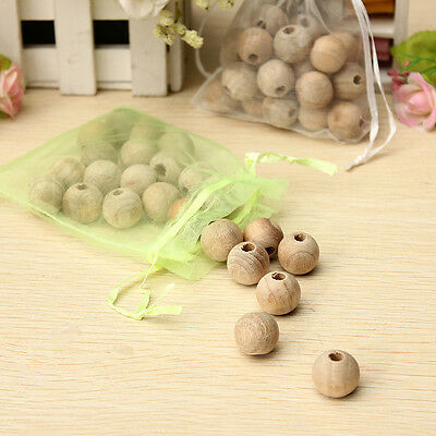 24 beads one Bag Cedar Wood Moth Balls Repellent Natural Wardrobe Clothes Drawer