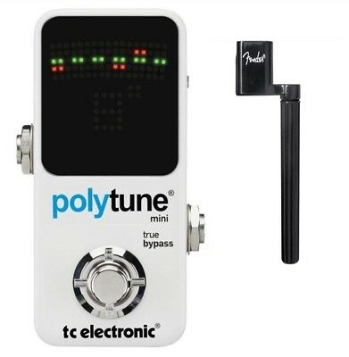 TC Electronic Polytune Mini Chromatic Pedal Guitar Tuner Pedal + FendePeg Winder