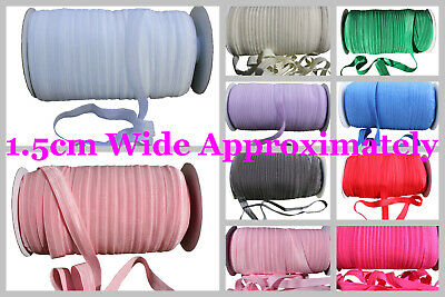 Fold Over Elastic Band FOE Trim by Metre for DIY Headband Craft 42 Colours