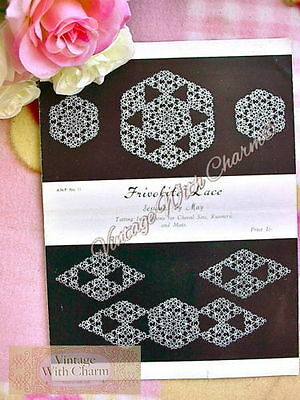 Vintage Tatting Pattern (Advanced) 'Cloverleaf' Triangle Design With Projects!!