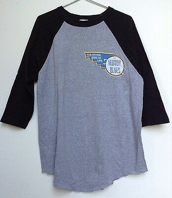 1980s MOODY BLUES T-SHIRT The Other Side of Life Tour Size XL Gray Raglan Sleeve
