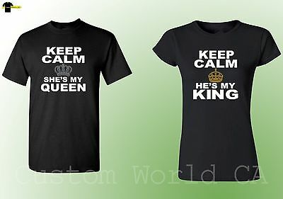 e715301f15 Couple Matching Shirts - He is My king She is my Queen Keep Calms His and