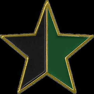 "1"" Black and Green Anarchy Star Lapel Pin"