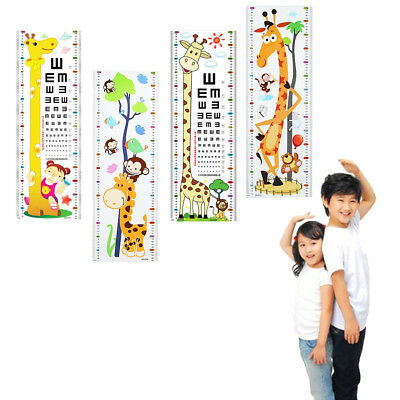 Growth Chart With Jungle Animals Height Wall Chart Wall Decal Kid