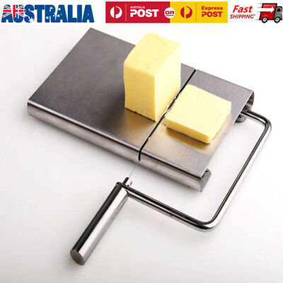 Stainless Steel Wire Blade Cheese Cutter Board Cake Dofu Butter Slicer FreeWires