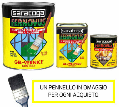 FERNOVUS SARATOGA PITTURA SMALTO GEL VERNICE ANTIRUGGINE 2in1 0,750 ml
