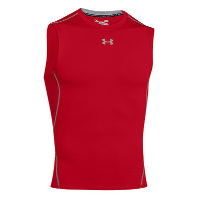 Under Armour Heatgear Compression Sleeveless Shirt Red Steel 1257469-600