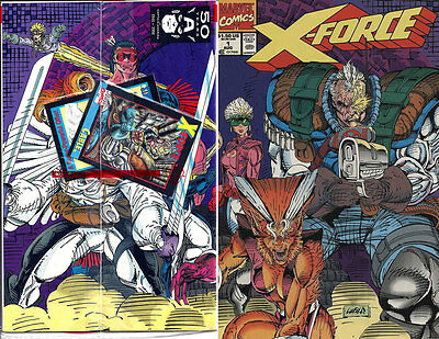 X-FORCE #1, Sealed Polybag w/ CABLE TRADING CARD, Nice! NM New (1991) Marvel