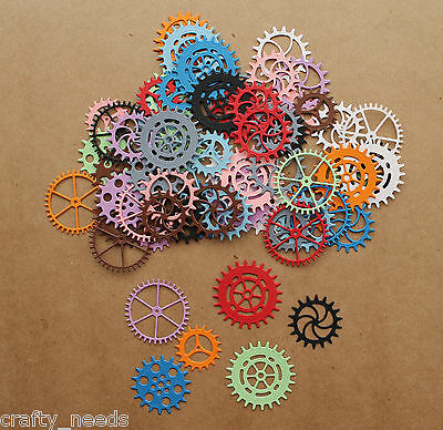 20PC - GEARS , Cogs  Paper DIE CUTS Scrapbooking - NOT a DIE