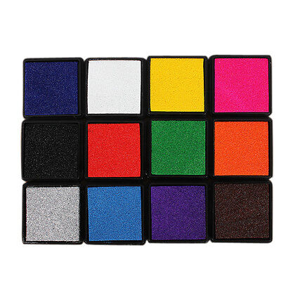 DIY Oil Based Ink Pad Craft Foam For Rubber Stamps Wood Paper Fabric Colors New