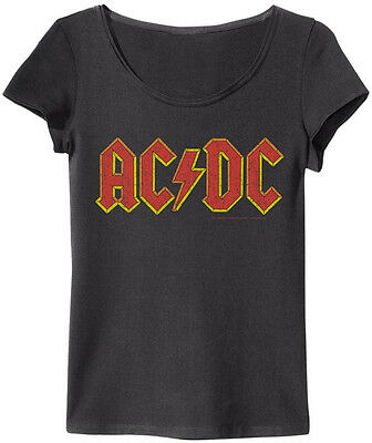 Amplified - AC/DC Classic Logo Damen T-Shirt (Grau) (S-XL)