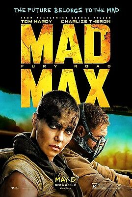 Mad Max Fury Road Double Sided Style B ORIGINAL MOVIE POSTER One Sheet Tom Hardy