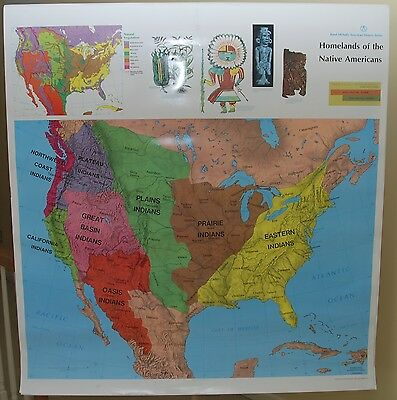 RAND McNALLY AMERICAN STUDIES SERIES SCHOOL MAPS! US HISTORY HOME 16 MAP w STAND