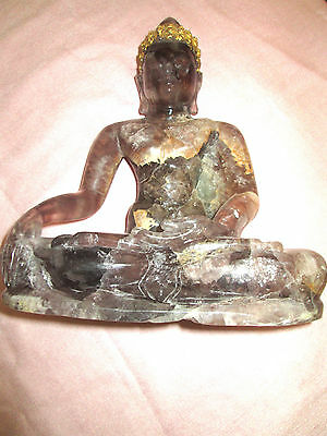Thai Quartz  Sitting  Buddha ,of Ratanakosindra Period 1800-1900 A.d