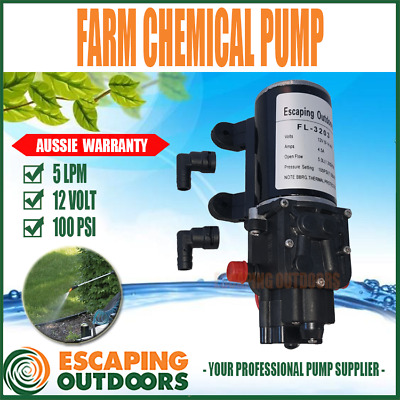 HD Water Pump 12V 100PSI Agriculture Chemical Rated Spot Spray for Boom or Wand