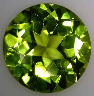 Natural Fine Vibrant Green  Peridot - Round - Arizona - Top Grade - Master Cut