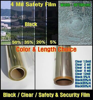 """WIDE:40""""(100CM/All Mil/2,4/Safety Clear Film/Window/Security/Residential/UV/ROLL"""