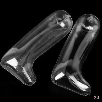 3 Pairs Footful Inflatable Clear Shoes Long Boot Holder Stand Stretcher Shaper