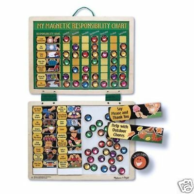 Melissa and Doug Magnetic RESPONSIBILITY and CHORES Learning Chart NEW NIP