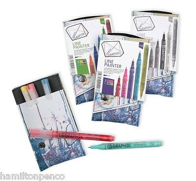 DERWENT GRAPHIK LINE PAINTERS - All colours available individually or in packs