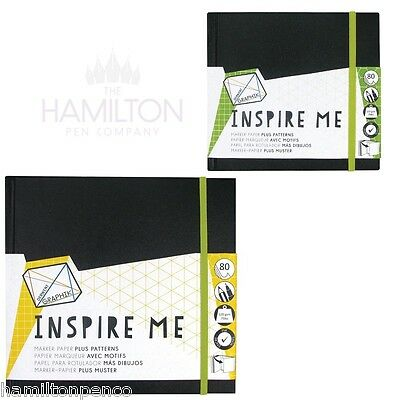 DERWENT GRAPHIK INSPIRE ME ILLUSTRATION BOOK - available in 2 convenient sizes