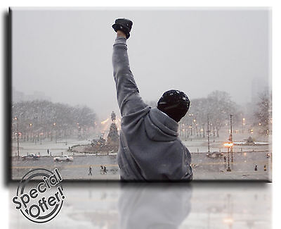 Wall Art Canvas Picture Print of Rocky  Framed  Ready to Hang