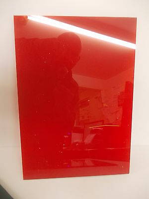 Red A6 A5 A4 A3 Perspex Acrylic Transluscent Sheet Plastic Material Panel 3mm