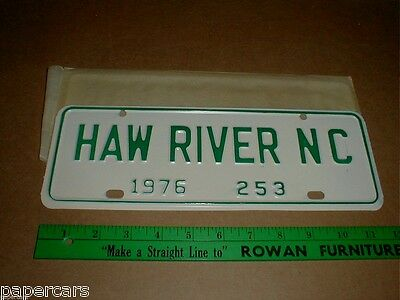 Haw River North Carolina NC Vintage Metal Auto License Plate City 1976 Tag New