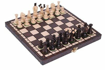 NEW The Kasbah - Unique Wood Chess Set w/ Board & Storage