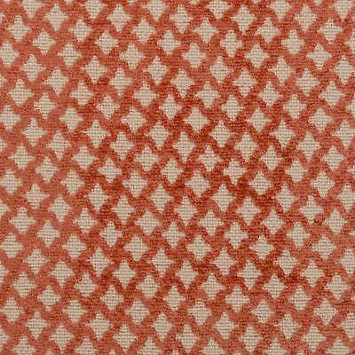 B. Berger- Papaya Ogee Diamond Chenille Upholstery Fabric- 10 yds (71058-451)