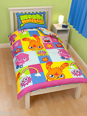 Moshi Monsters Single Duvet Cover Reversible Bedding & Pillowcase