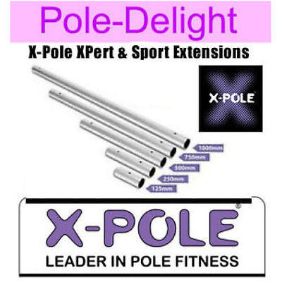 X Pole Chrome Extensions For 40mm  LATEST VERSION  X Pole XPert & X-Pole Sport