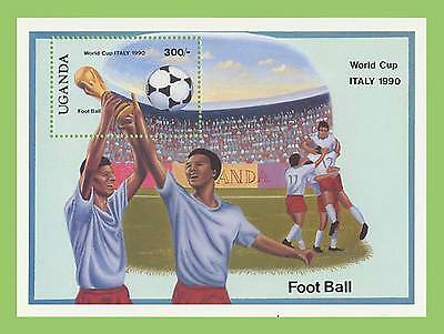Uganda 1989 World Cup Football Italy miniature sheet, UM MNH