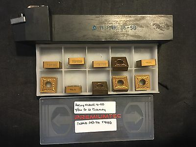 """1"""" Korloy MSRNR 16-5D Tool Holder w/Box of Tungaloy SNMG 543 - TH  T9105 Inserts"""