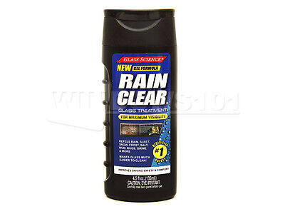 Glass Science 4.5 fl oz. RAIN CLEAR Glass Treatment. NEW GEL FORMULA!