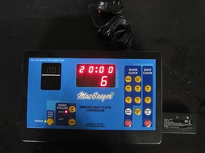 New MacGregor Wireless Shot Clock Controller Working Condition HY1