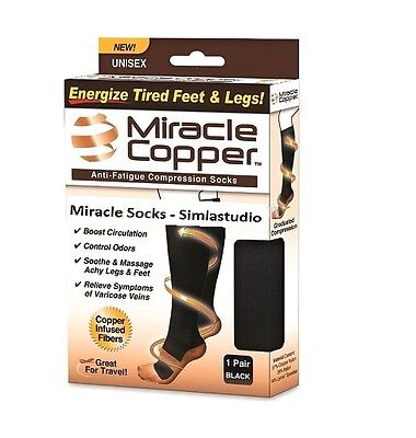 New Unisex Miracle Copper Socks Anti Fatigue Copper Compression Socks Stocking