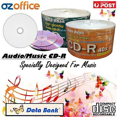 Blank Audio CD Data Bank Music CD -R 52x White Inkjet Printable Blank Music CD R