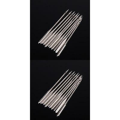 20PCs 2-size Steel Home Sewing Machine Needles Fit Brother Janome Singer Elna