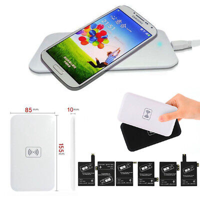 Chargeur +Patch Récepteur Sans Fil QI Wireless Kit Charger pr Samsung Galaxy+USB