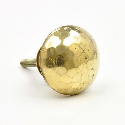 Faceted Brass Knob, Golden Cupboard Handles, Pretty Gold Knobs, Small Unique Met