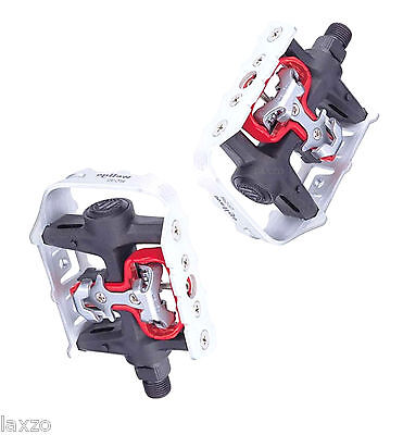 Wellgo - WPD-982 Alloy Clipless Pedal Silver / Black 9/16 Bicycle Bike SPD Pedal