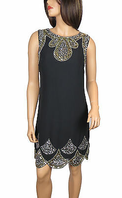 New 1920's Gatsby fully embellished shift Party Dress from size 8 to PLUS SIZES